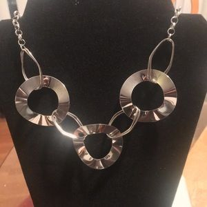 Futuristic Silver Necklace